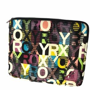 Roxy multi color laptop sleeve